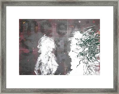 Yelling At You Yelling At Me 1986 Framed Print by Paul Ashby