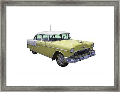 Yellow 1955 Chevrolet Bel Air Framed Print by Keith Webber Jr