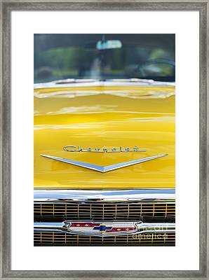Yellow 1957 Chevrolet  Framed Print by Tim Gainey