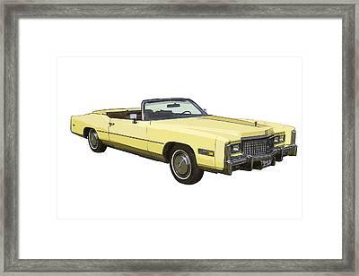 Yellow 1975 Cadillac Eldorado Convertible Framed Print by Keith Webber Jr