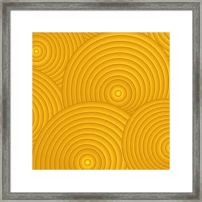 Yellow Abstract Framed Print