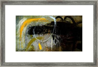 Yellow And Black Forms Framed Print by Jeremy Norton