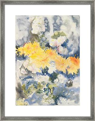 Yellow And Blue Framed Print by Charles Demuth