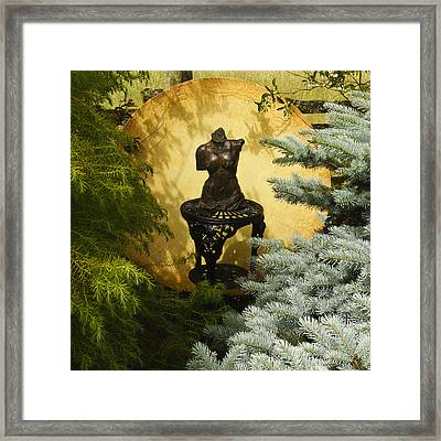 Yellow And Bronze Framed Print