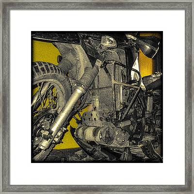 Yellow And Metal Framed Print
