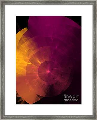 Yellow And Purple Umbrella Top Abstract  Framed Print by Andee Design