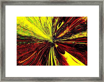 Yellow And Red Dreams Framed Print