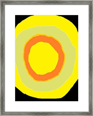 Framed Print featuring the painting Yellow by Anita Dale Livaditis