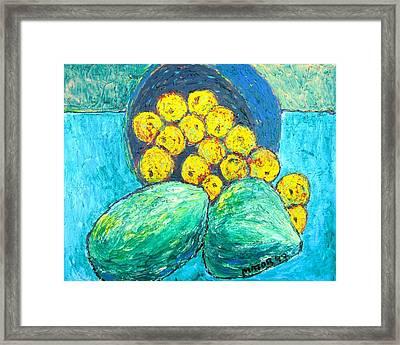 Yellow Apples Framed Print
