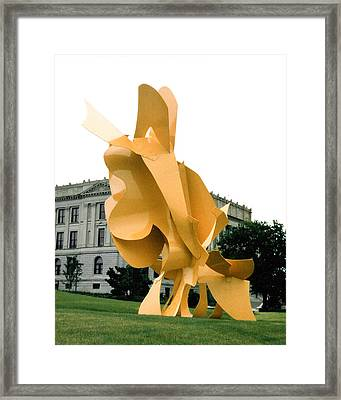 Yellow Ascending Framed Print by Barbara Snyder