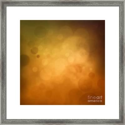 Yellow Autumn Bokeh Background Framed Print