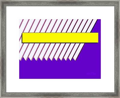 Yellow Bar White Louvers Framed Print by Robert J Sadler