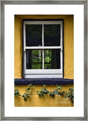 Yellow Barn Window Framed Print by Svetlana Sewell