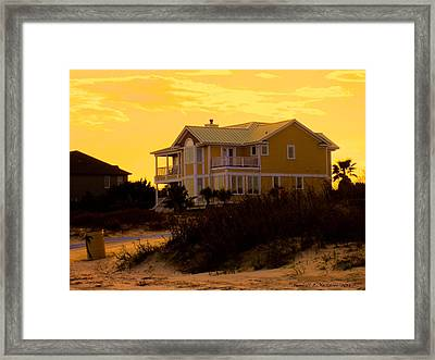 Yellow Beauty At Isle Of Palms Framed Print by Kendall Kessler