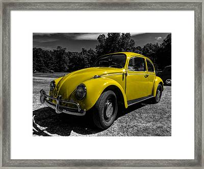 Yellow Beetle 001 Framed Print