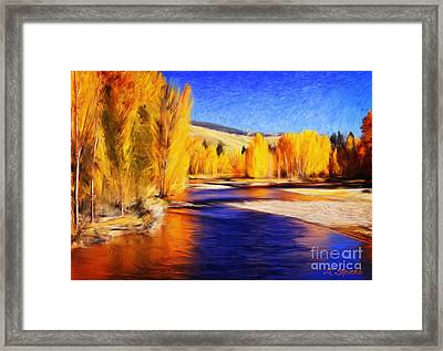 Yellow Bend In The River II Framed Print
