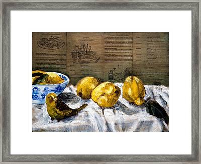 Yellow Bird Framed Print by Gaye White