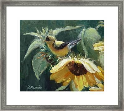 Yellow Bird - Hooded Oriole Framed Print