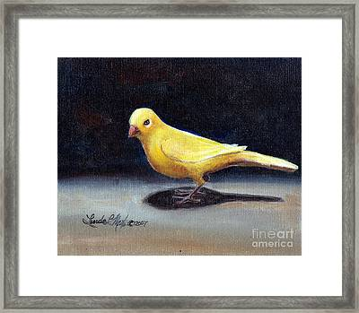 Yellow Bird Framed Print