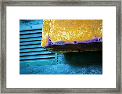 Yellow-blue Abstract Framed Print