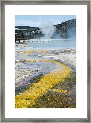Yellowstone Brick Road Framed Print