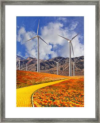 Yellow Brick Road Palm Springs Framed Print by William Dey