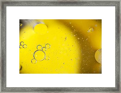 Yellow Bubbles Framed Print by Samuel Whitton