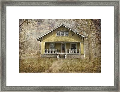 Yellow Bungalow Framed Print by Thomas Woolworth