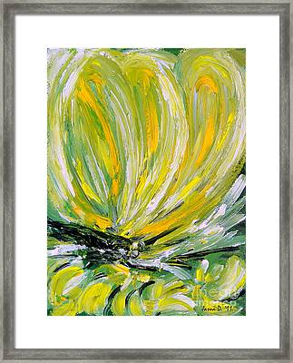 Yellow Butterfly Framed Print by Jasna Dragun