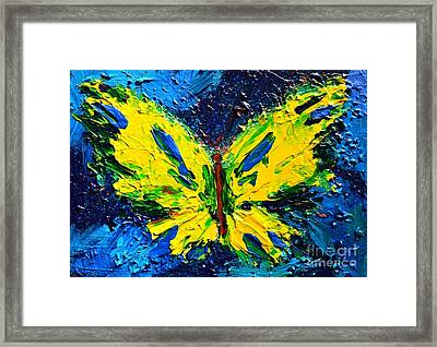 Yellow Butterfly Framed Print by Patricia Awapara
