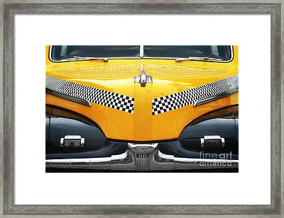 Yellow Cab - 1 Framed Print by Nikolyn McDonald