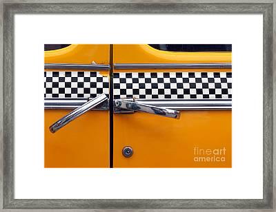 Yellow Cab - 3 Framed Print by Nikolyn McDonald