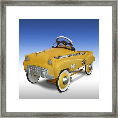 Yellow Cab Peddle Car Framed Print by Mike McGlothlen