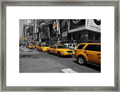 Yellow Cabs Framed Print by Randi Grace Nilsberg