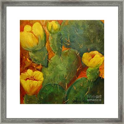 Yellow Cacti Framed Print