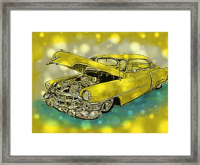 Yellow Cad Framed Print