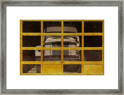 Yellow Cage Framed Print by Jeff  Gettis