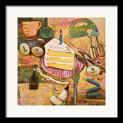 Birthday Cake Framed Prints