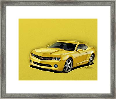 Yellow Camaro Framed Print