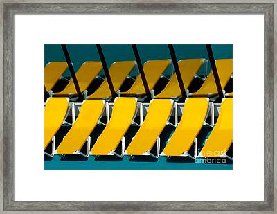 Yellow Chairs Reflected Framed Print