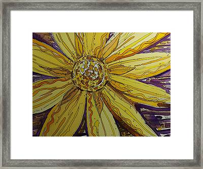 Yellow Chakra Framed Print by Terry Holliday
