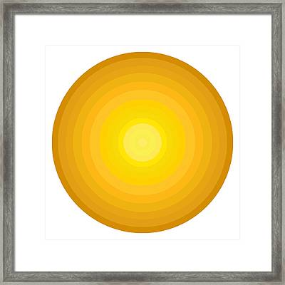 Yellow Circles Framed Print by Frank Tschakert
