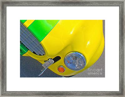 Yellow Cobra Framed Print by Hot Rod Pics