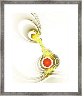 Yellow Connection Framed Print
