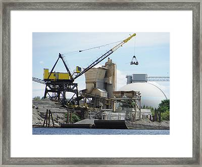 Yellow Crane Framed Print