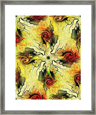 Yellow Cross Framed Print by Anastasiya Malakhova