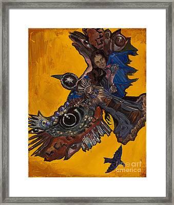 Yellow Crow Framed Print