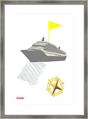 Yellow Cruise Framed Print