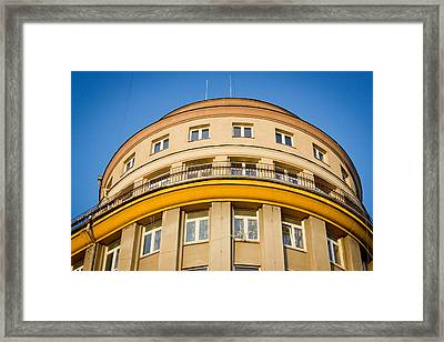 Yellow Curve Framed Print