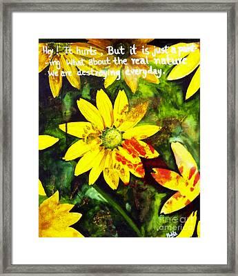 Yellow Daisies Framed Print by Mukta Gupta